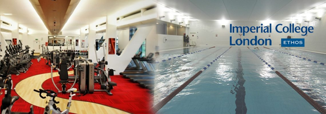 Ethos, the in-campus sport centre. Features a gym, a pool and a SPA.